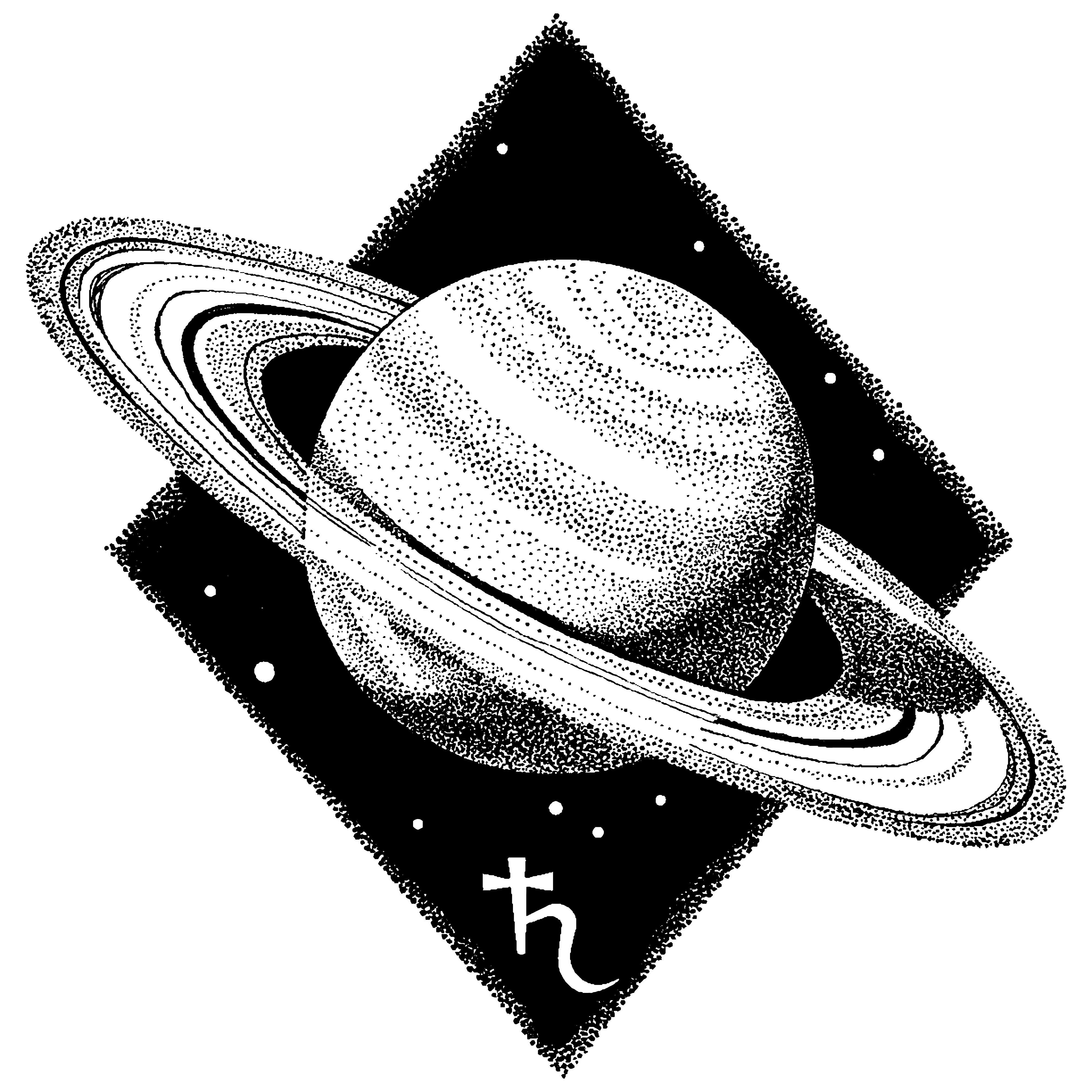 Planeta y símbolo de Saturno || Fuente: Shutterstock