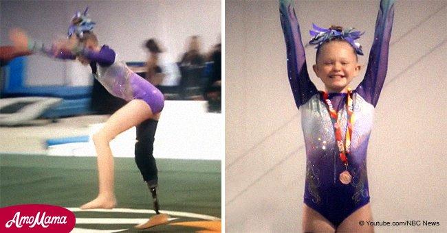 Une fillette de 11 ans avec une jambe montre des cascades incroyables en gymnastique et remporte des prix