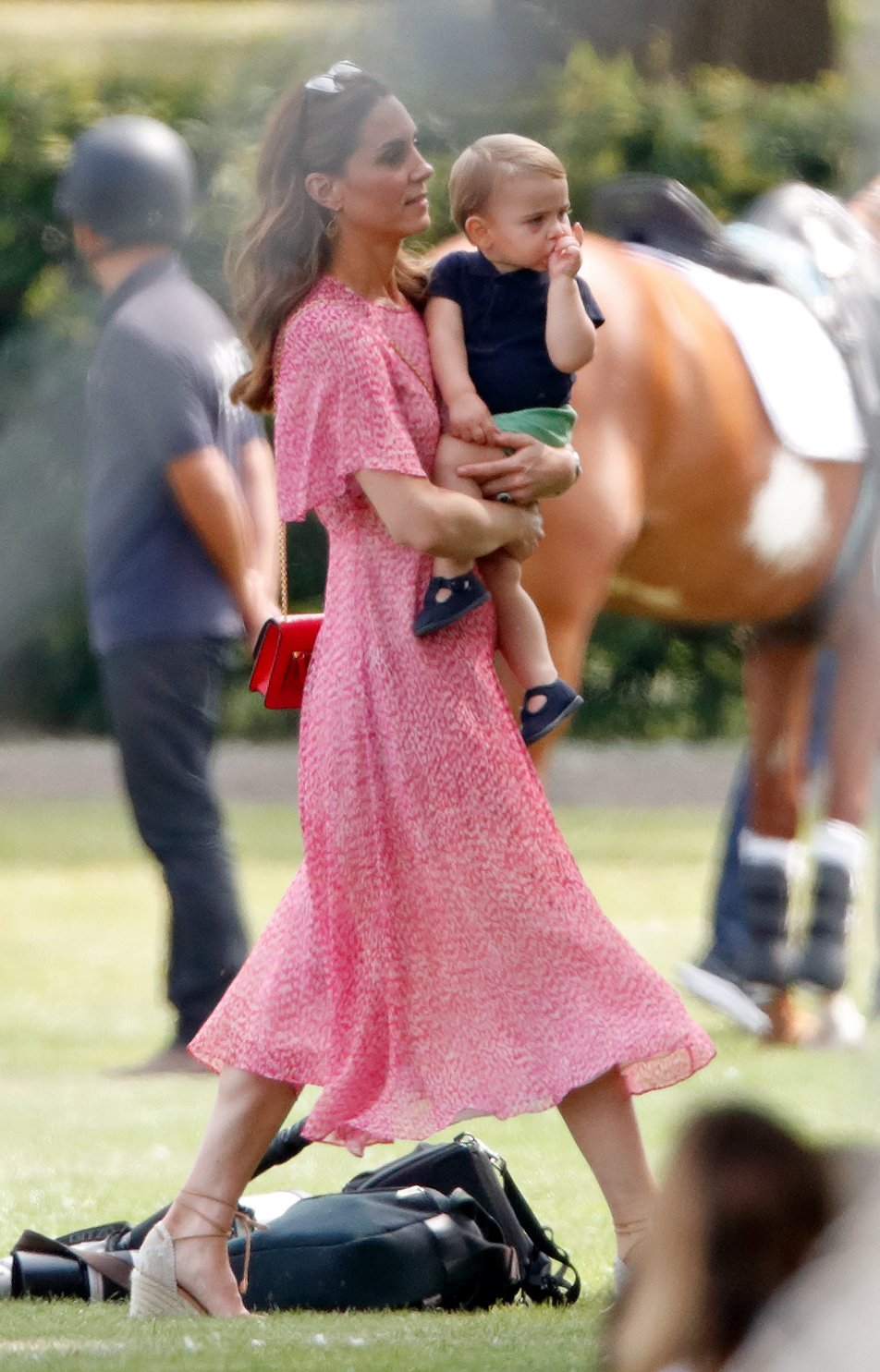 Kate Middleton y el pequeño Príncipe Louis || Fuente: Getty Images