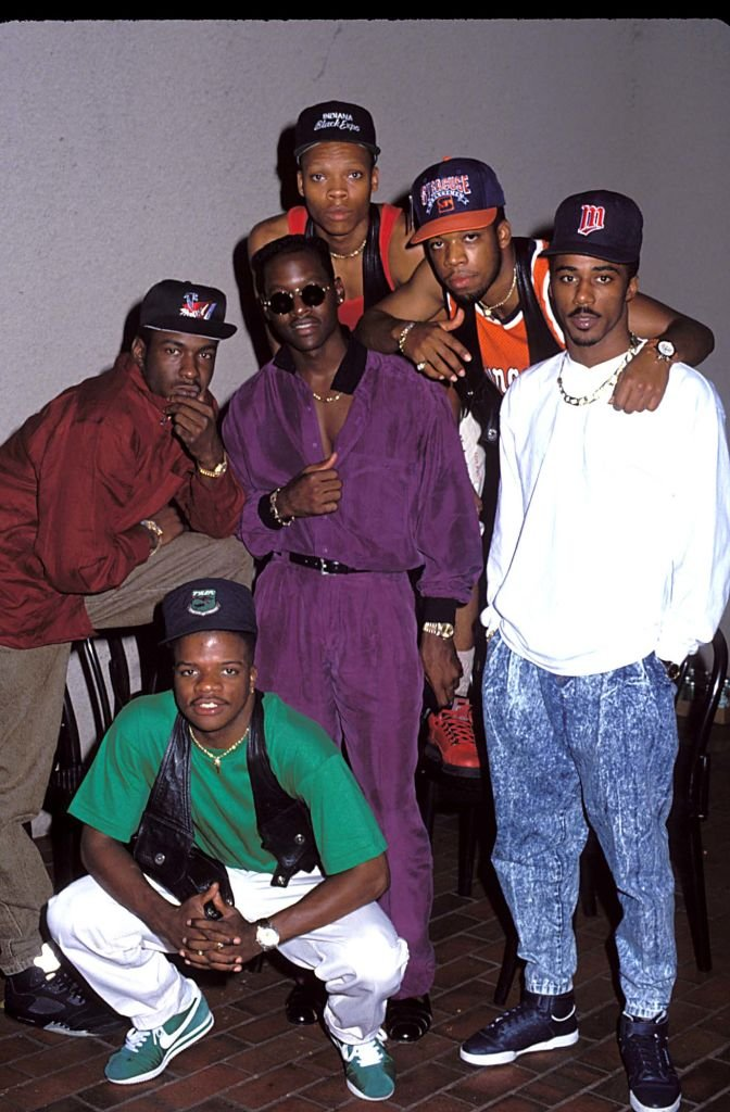 New Edition bei den MTV Video Music Awards 1990 in Los Angeles | Quelle: Getty Images