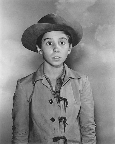 "Child actor Johnny Crawford in ""The Rifleman"" in 1959 