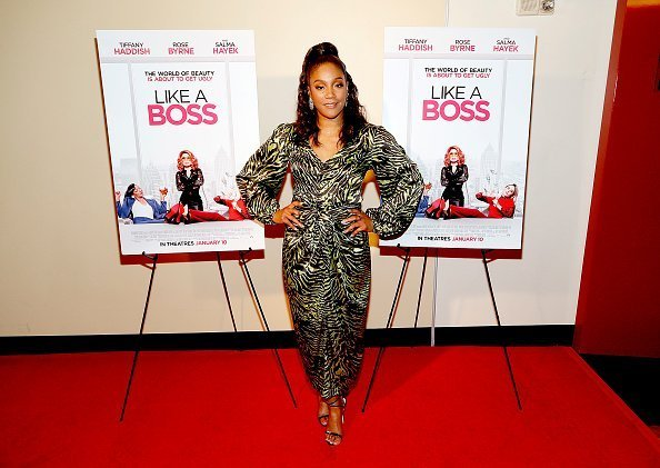 """Actress Tiffany Haddish attends a special hometown Washington, DC screening of """"Like A Boss"""" with Tiffany Haddish at the AMC Georgetown 