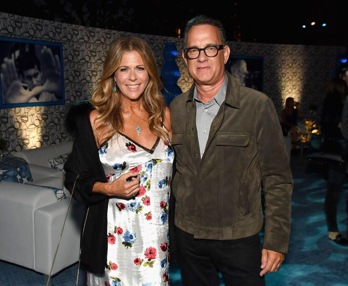 """Rita Wilson and Tom Hanks at HBO's """"Spielberg"""" Premiere at Paramount Studios on September 26, 2017 in Hollywood, California   Photo: Getty Images"""