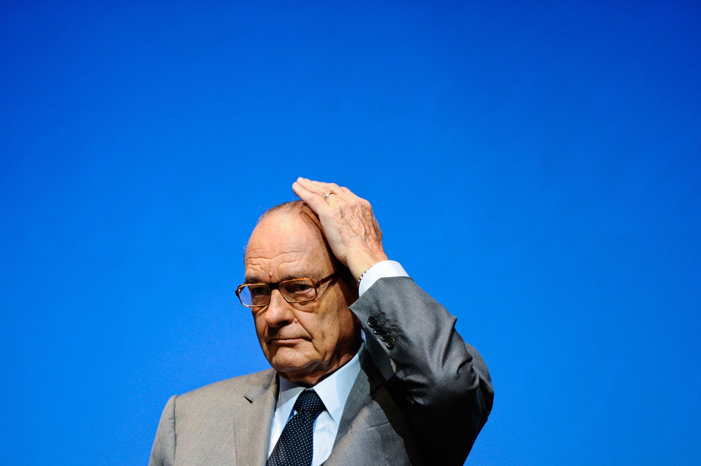 Portrait de l'ancien président français Jacques Chirac lors de la Cérémonie de la Fondation Chirac.   Photo : GettyImage