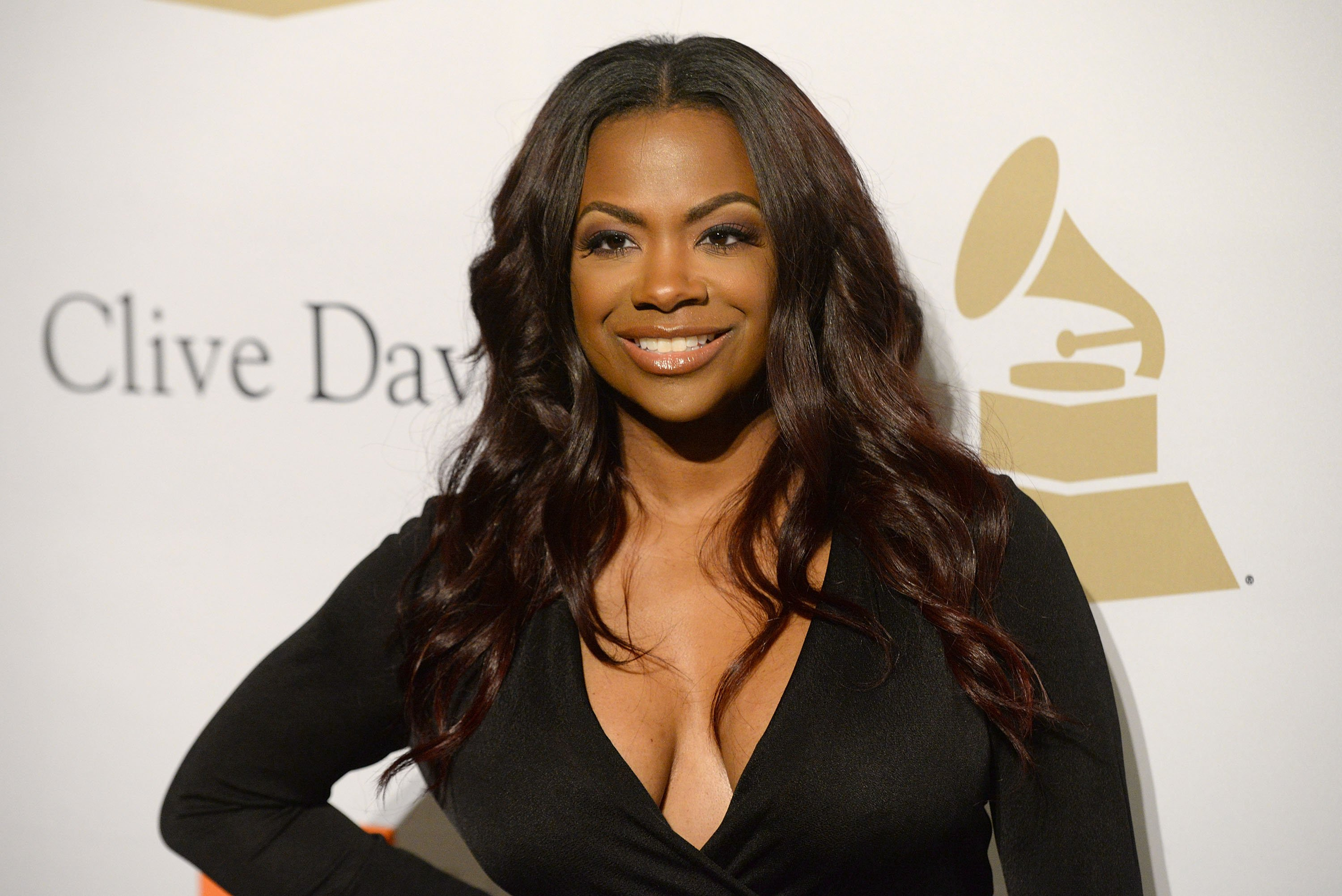 Kandi Burruss at the Pre-Grammy Gala And Salute to Industry Icons at The Beverly Hilton Hotel on February 11, 2017 in Beverly Hills, California.   Source: Getty Images