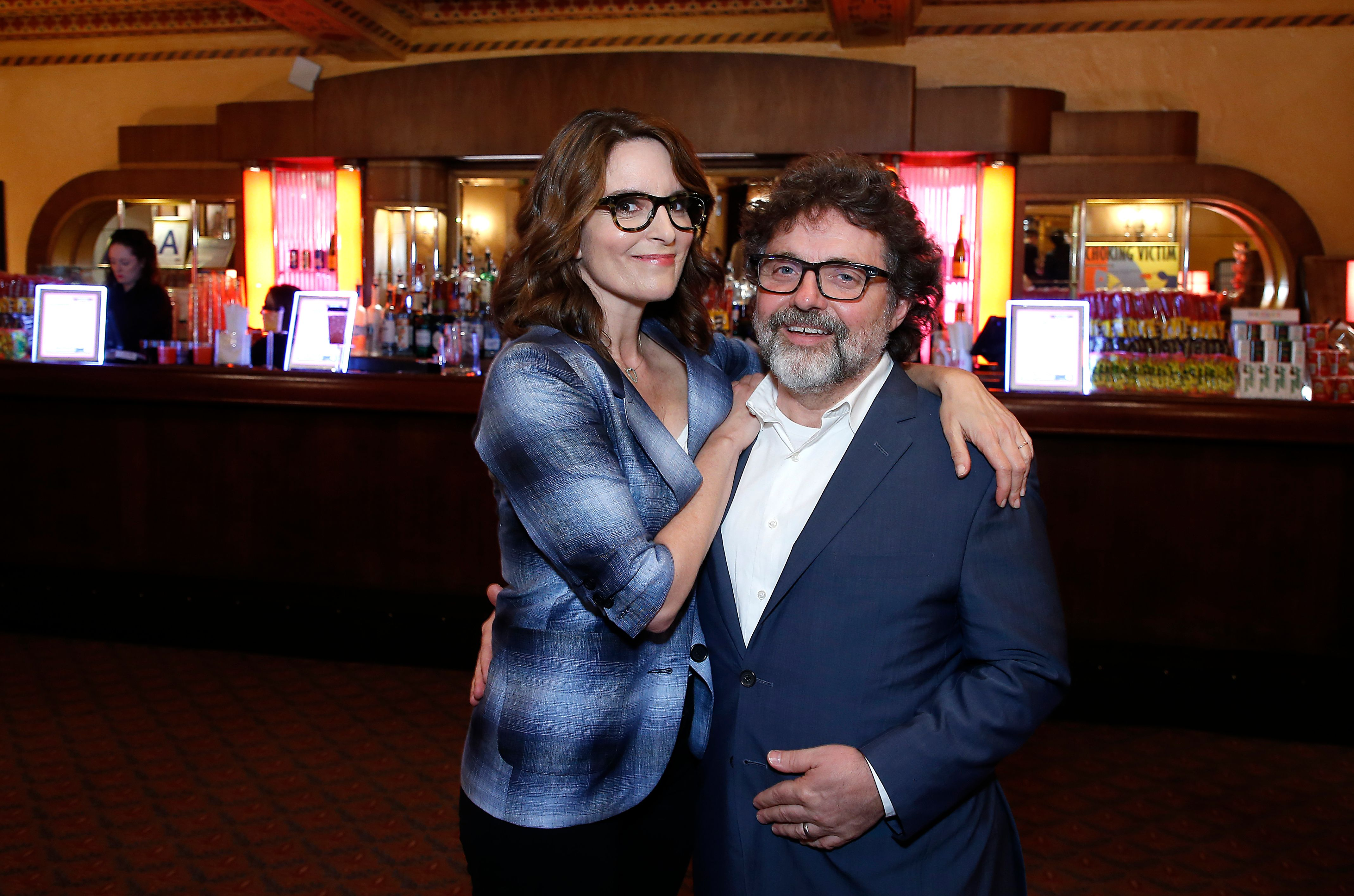 """Tina Fey and Jeff Richmond attend """"Mean Girls"""" celebrating 1 year on Broadway at August Wilson Theatre on April 09, 2019 in New York City. 
