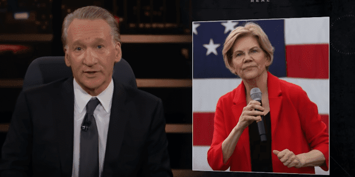 Bill Maher talking about Elizabeth Warren   Photo: YouTube/Real Time with Bill Maher