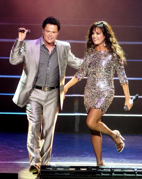 Donny Osmond and Marie Osmond at The Horseshoe Casino on August 26, 2010 in Hammond, Indiana. | Photo: Getty Images