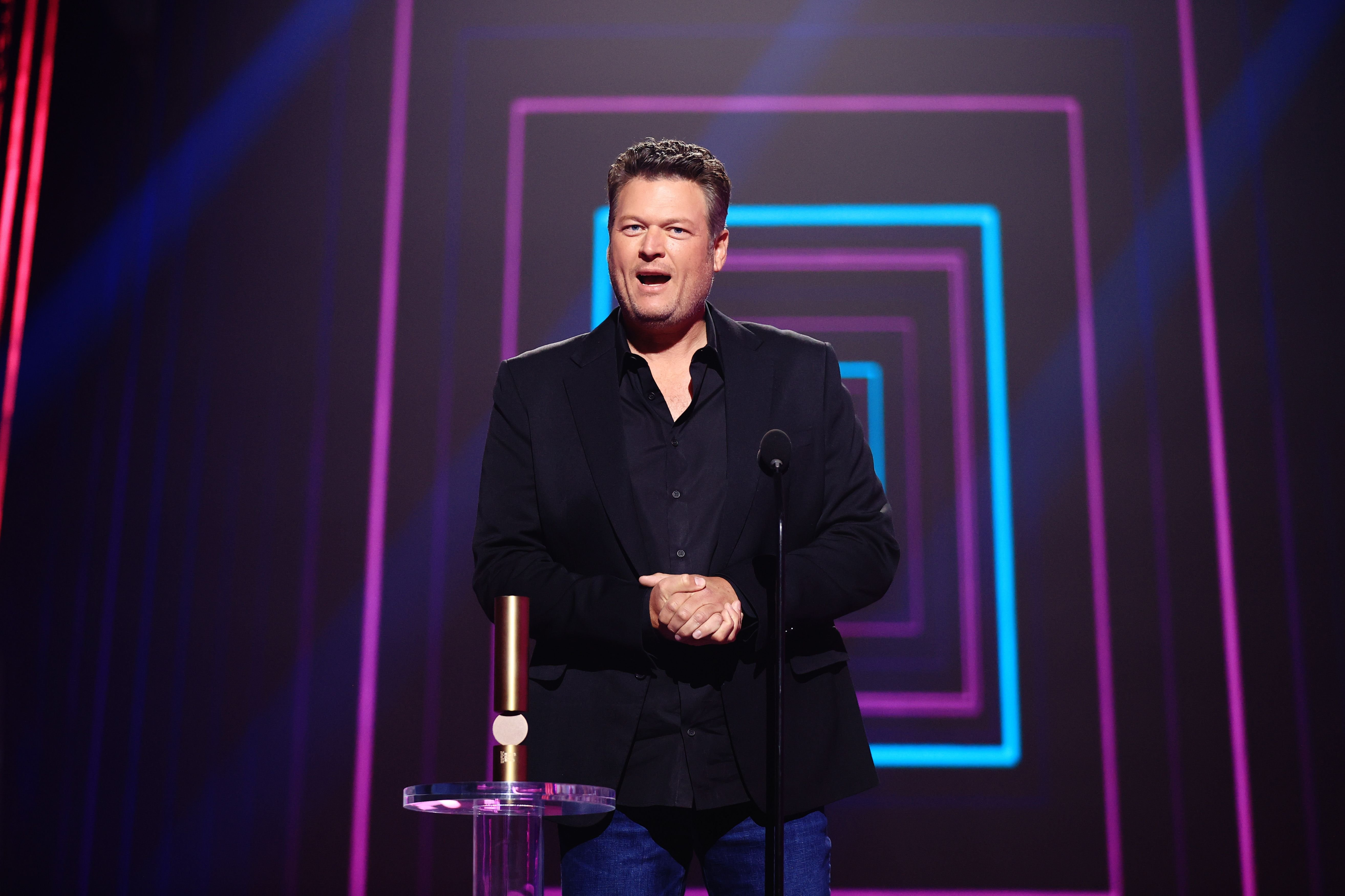 Blake Shelton onstage at the 2020 E! People's Choice Awards on November 15, 2020. | Getty Images