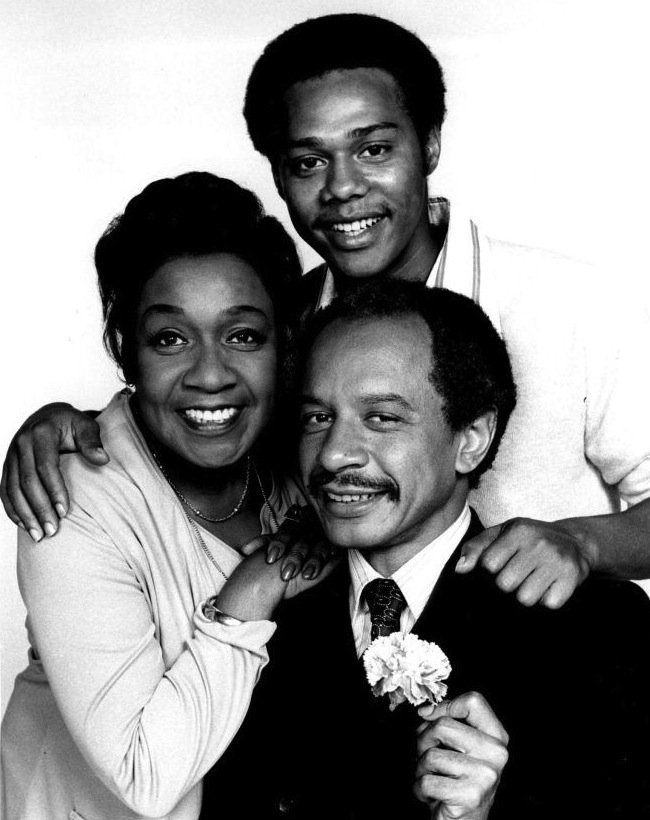 """Mike and other cast members of """"The Jeffersons"""" circa 1974 