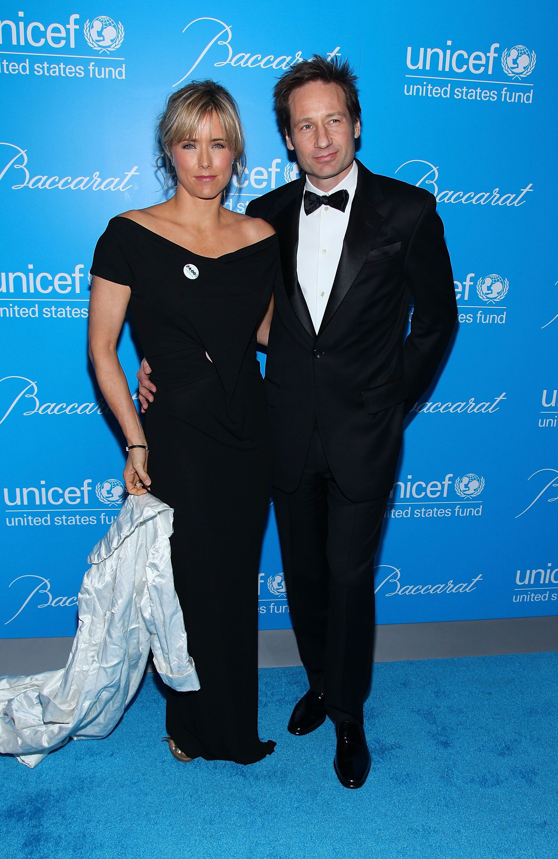 Tea Leoni (L) und David Duchovny nehmen am 2. Dezember 2009 am UNICEF Snowflake Ball 2009 in der Cipriani 42nd Street in New York City teil. | Quelle: Getty Images