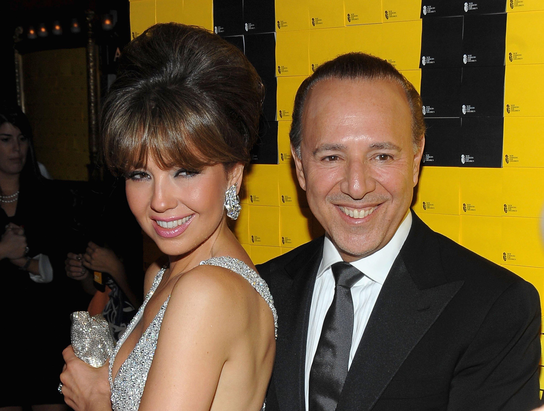 Thalía y Tommy Mottola asisten al 10° evento benéfico anual de New Yorkers for Children en septiembre de 2009 en Nueva York || Fuente: Getty Images