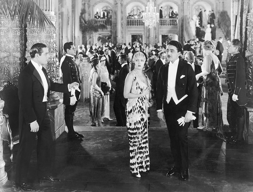 """Gloria Swanson acts surprised at a formal party from the movie """"My Own Party""""   Photo: Getty Images"""