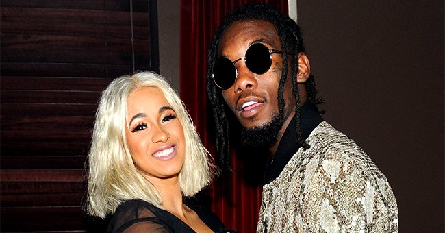 Cardi B's Husband Offset Melts Hearts Cleaning Daughter Kulture's Cute Dress after It Got Dirty