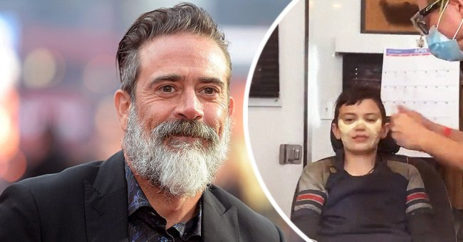 """Jeffrey Dean Morgan on the left and son Augustus """"Gus"""" Morgan on the right 