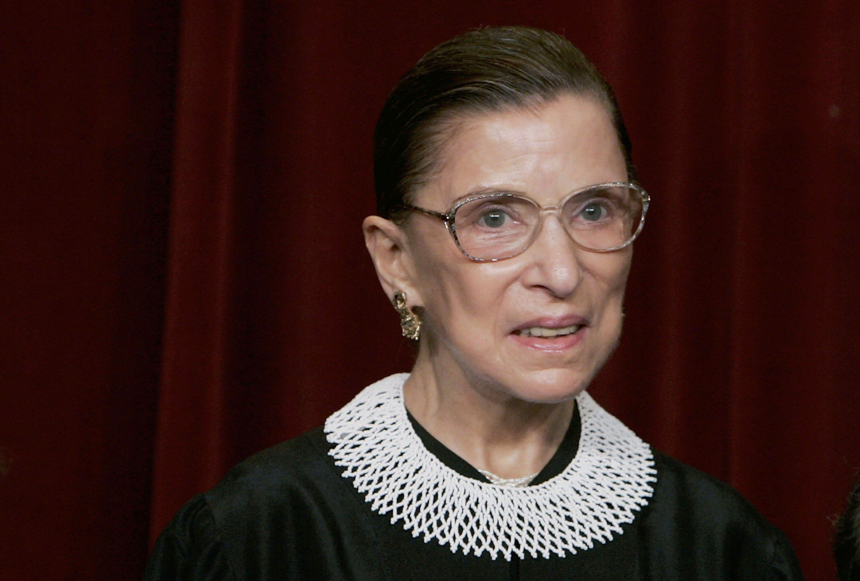 Supreme Court Justice Ruth Bader Ginsburg at the U.S. Supreme Court in 2006 in Washington DC   Source: Getty Images