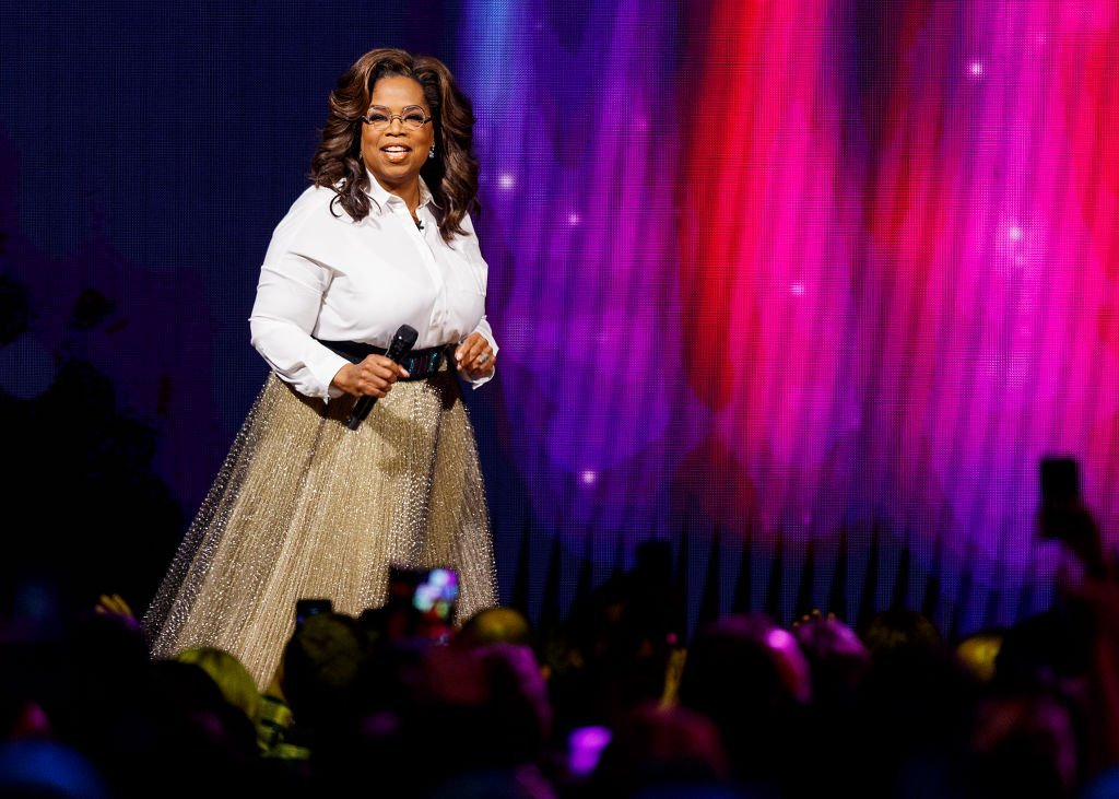 Oprah Winfrey speaks on stage at Rogers Arena | Photo: Getty Images