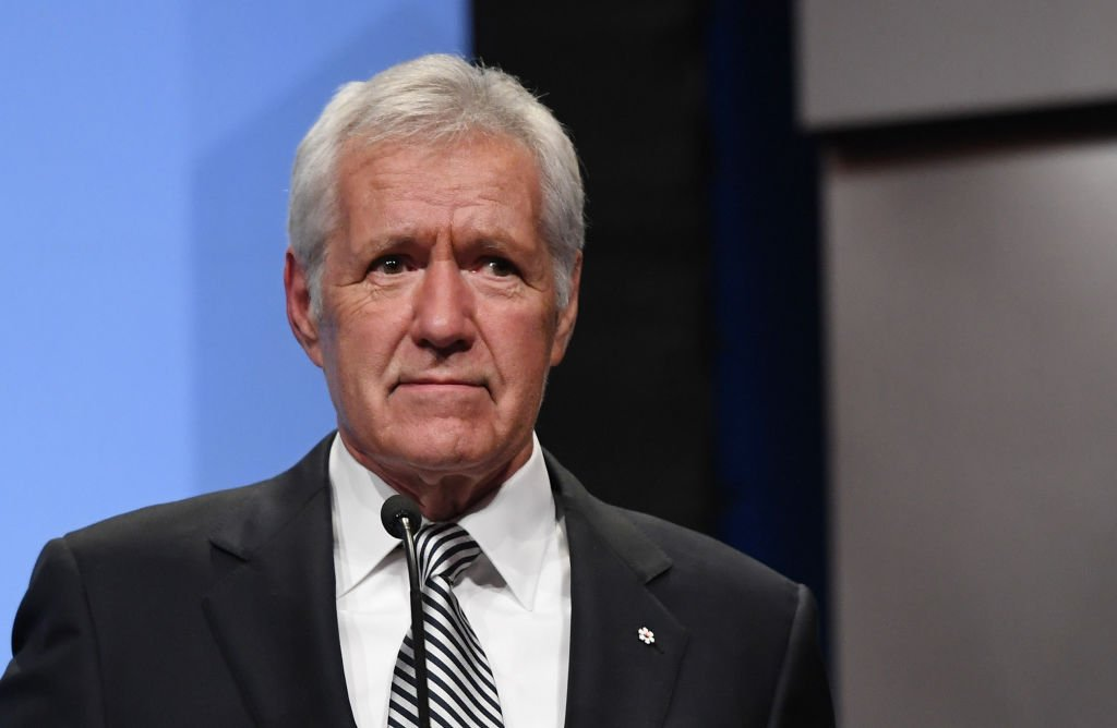 Alex Trebek speaks as he is inducted into the National Association of Broadcasters Broadcasting Hall of Fame during the NAB Achievement | Photo:  Ethan Miller/Getty Images