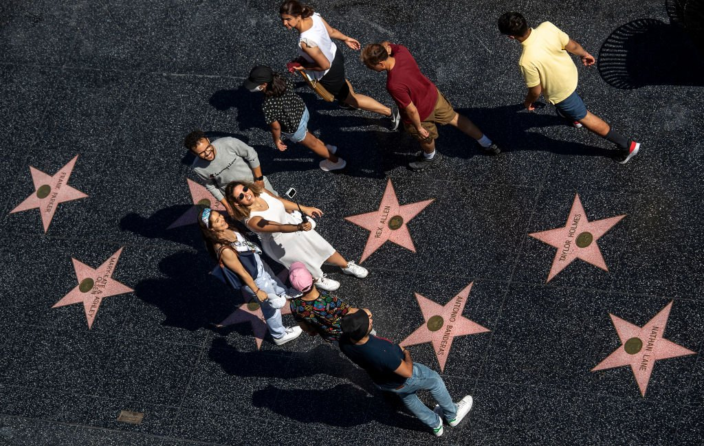 Le Walk of Fame à Hollywood.   Photo : Getty Images