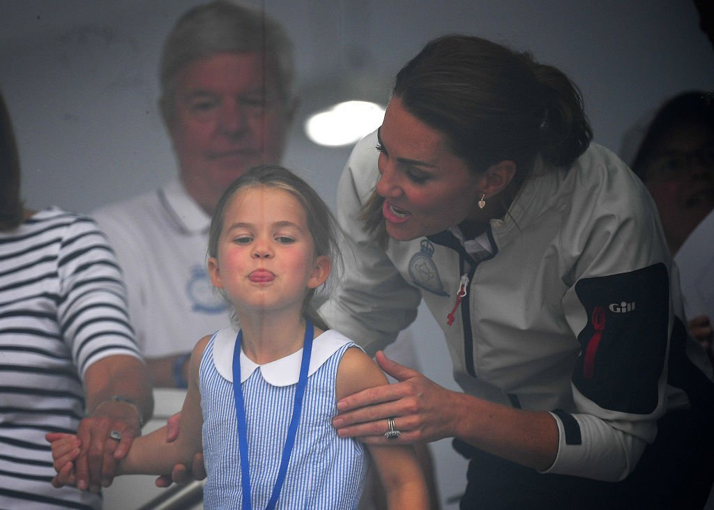 Princess Charlotte of Cambridge and Catherine, Duchess of Cambridge having fun together after the inaugural King's Cup regatta   Photo: Getty Images