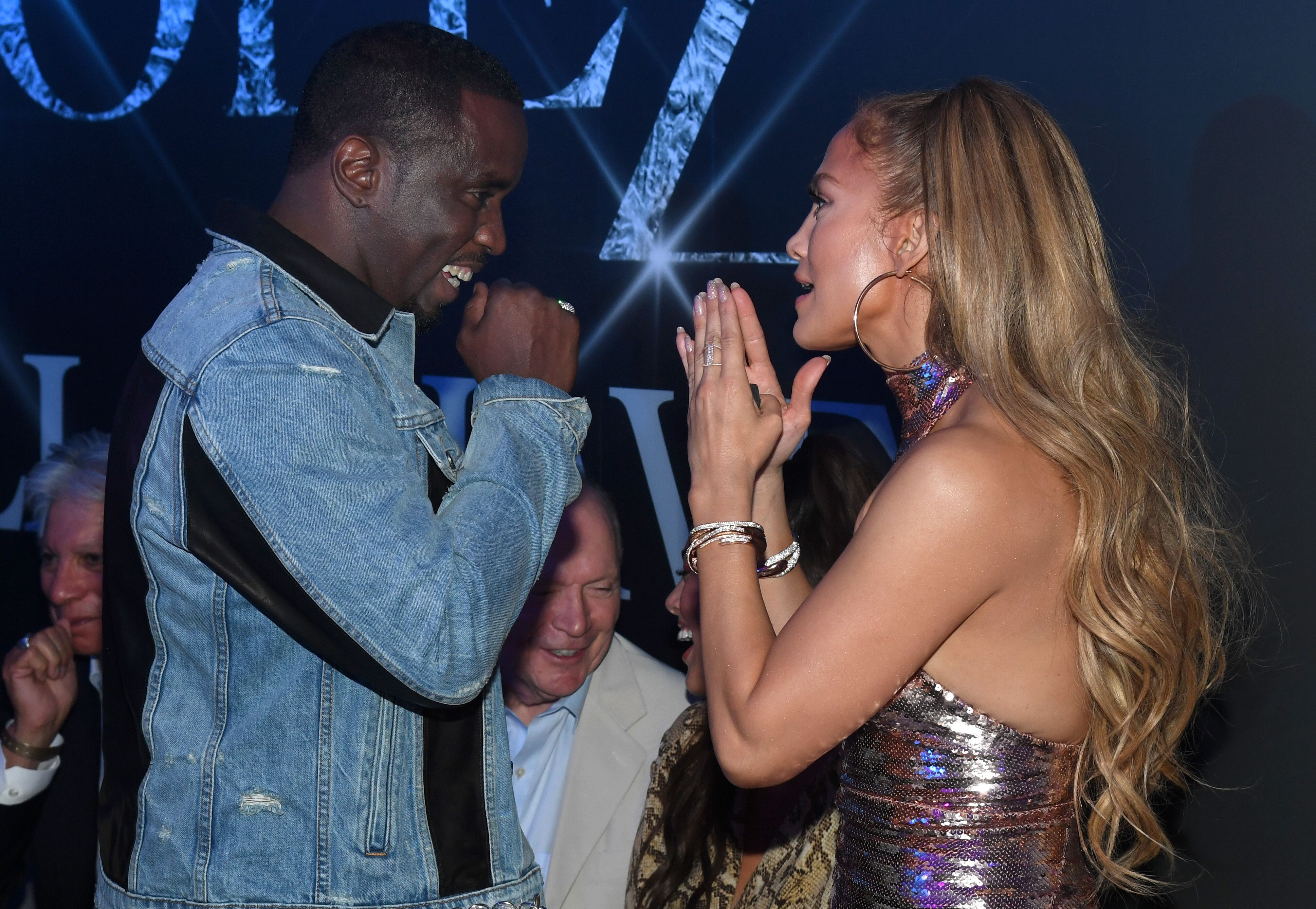 """Sean """"Diddy"""" Combs (L) and Jennifer Lopez attend the after party for the finale of the """"JENNIFER LOPEZ: ALL I HAVE"""" residency at MR CHOW at Caesars Palace on September 30, 2018 