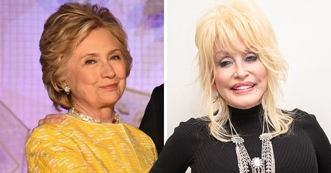 Hillary Clinton Praises Dolly Parton's Cold Shoulder Top as Got Her Vaccine & Wants It Trending