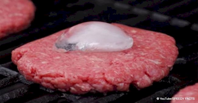 Put ice cubes in the center of burger patties before cooking and get the perfect juicy burger