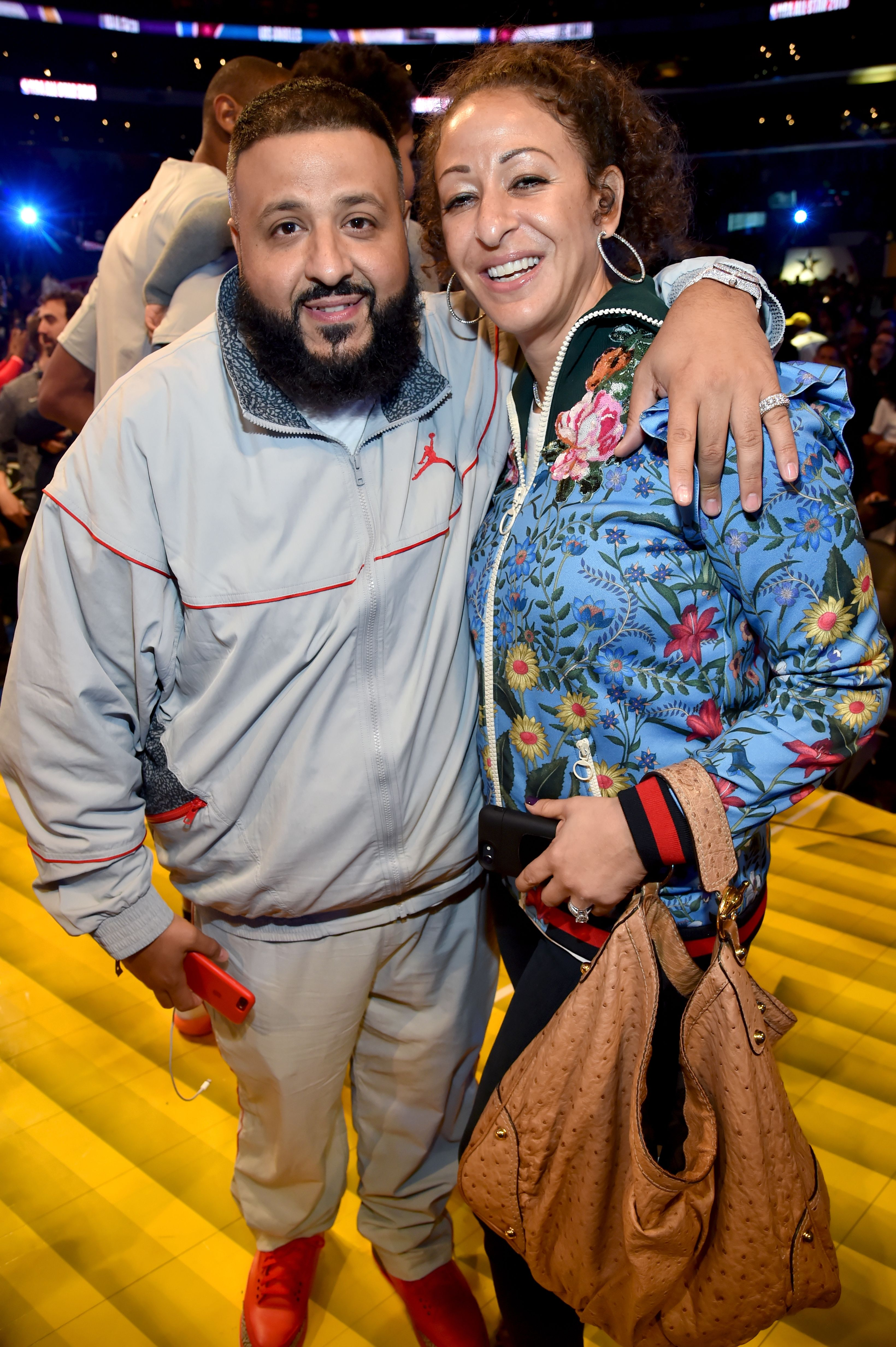 DJ Khaled and Nicole Tuck during the 67th NBA All-Star Game: Team LeBron Vs. Team Stephen at Staples Center on February 18, 2018 in Los Angeles, California. | Source: Getty Images