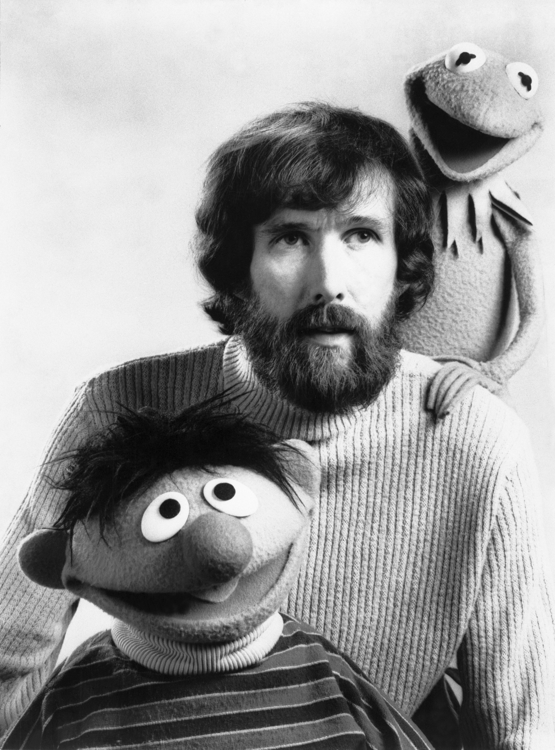 """Jim Henson with two of his """"Muppets"""", puppets Kermit The Frog and Ernie, from """"Sesame Street"""".   Source: Getty Images"""