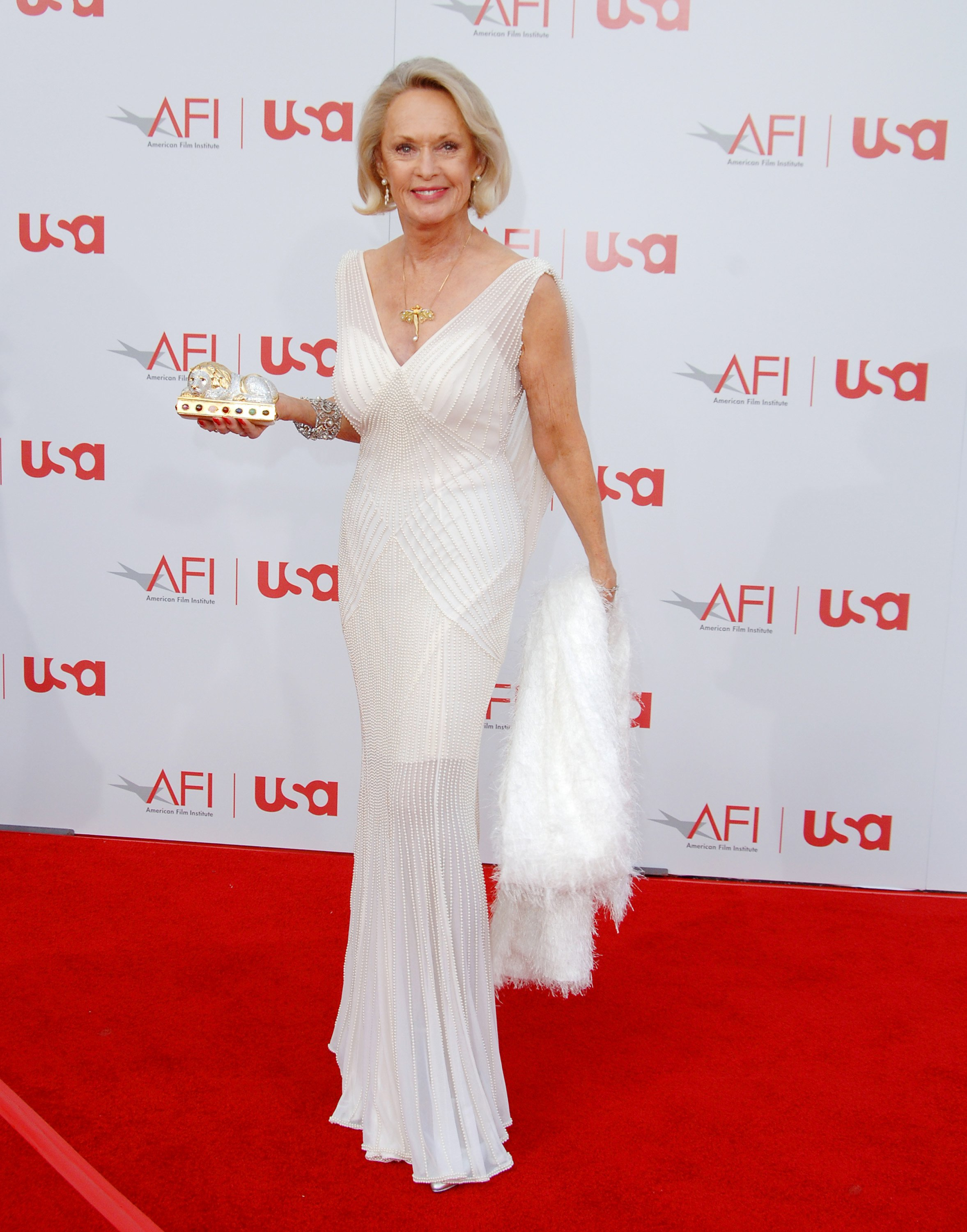 Tippi Hedren during 34th Annual AFI Lifetime Achievement Award: A Tribute to Sean Connery - Arrivals at Kodak Theatre in Hollywood, California, United States. | Source: Getty Images