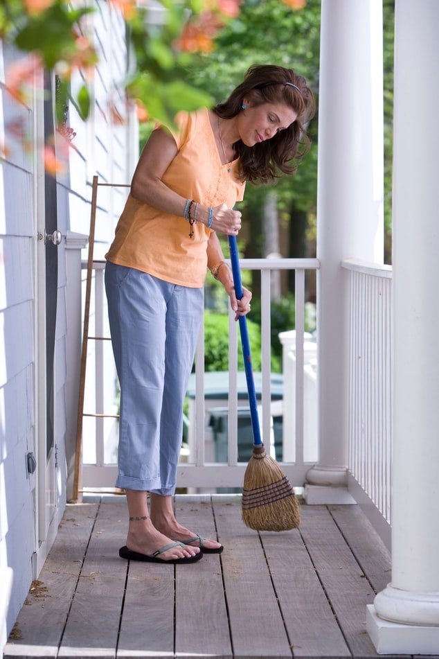 I found work as a cleaning lady   Source: Unsplash