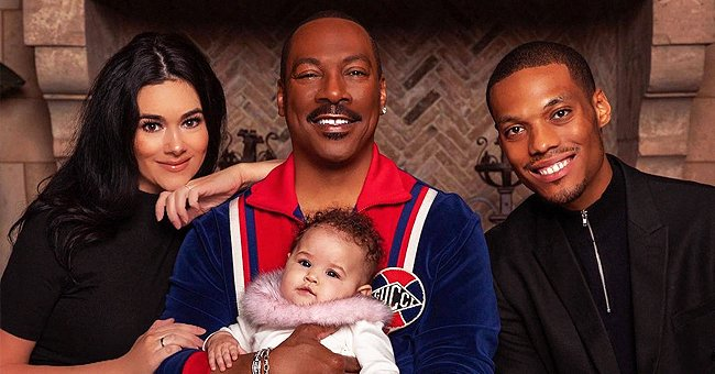 Eddie Murphy's Granddaughter Evie Shows Mesmerizing Eyes & Cute Smile Playing in a Bounce House