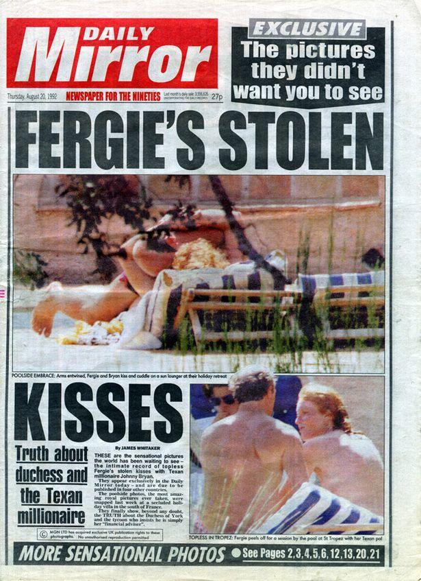 John Bryan with Sarah Ferguson in France   Photo: Daily Mirror