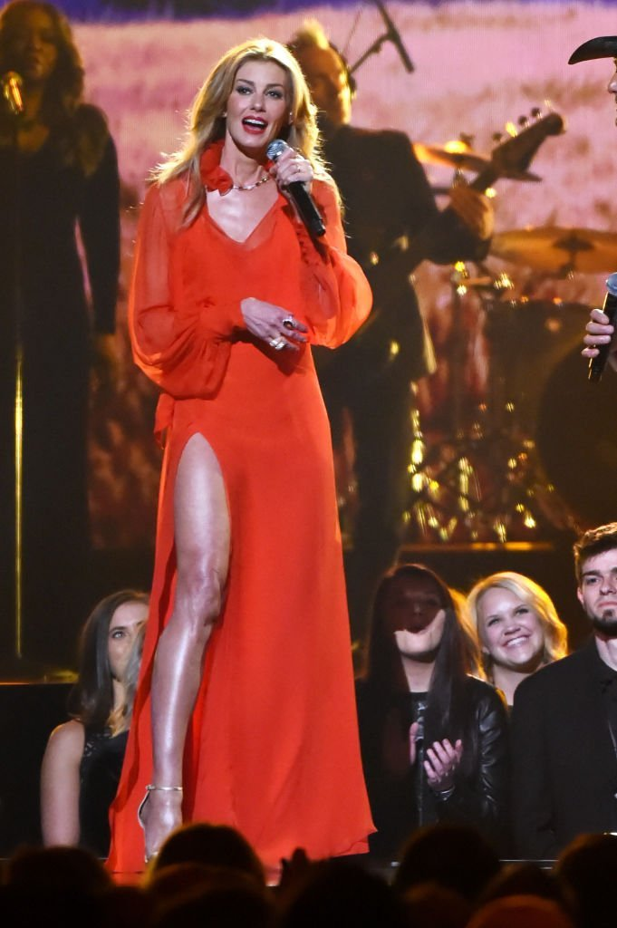 Faith Hill performs onstage at the 51st annual CMA Awards.   Source: Getty Images