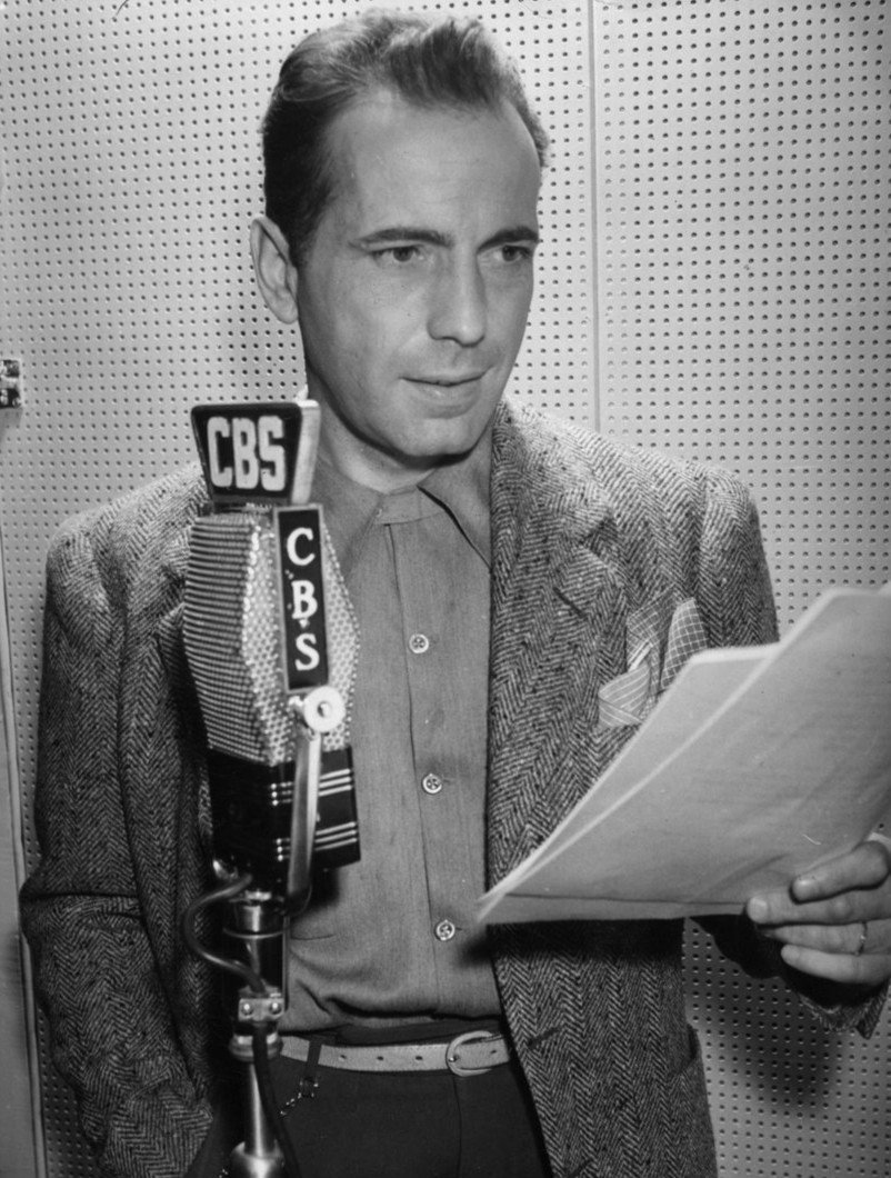"Humphrey Bogart as he played a role on ""Suspense."" 