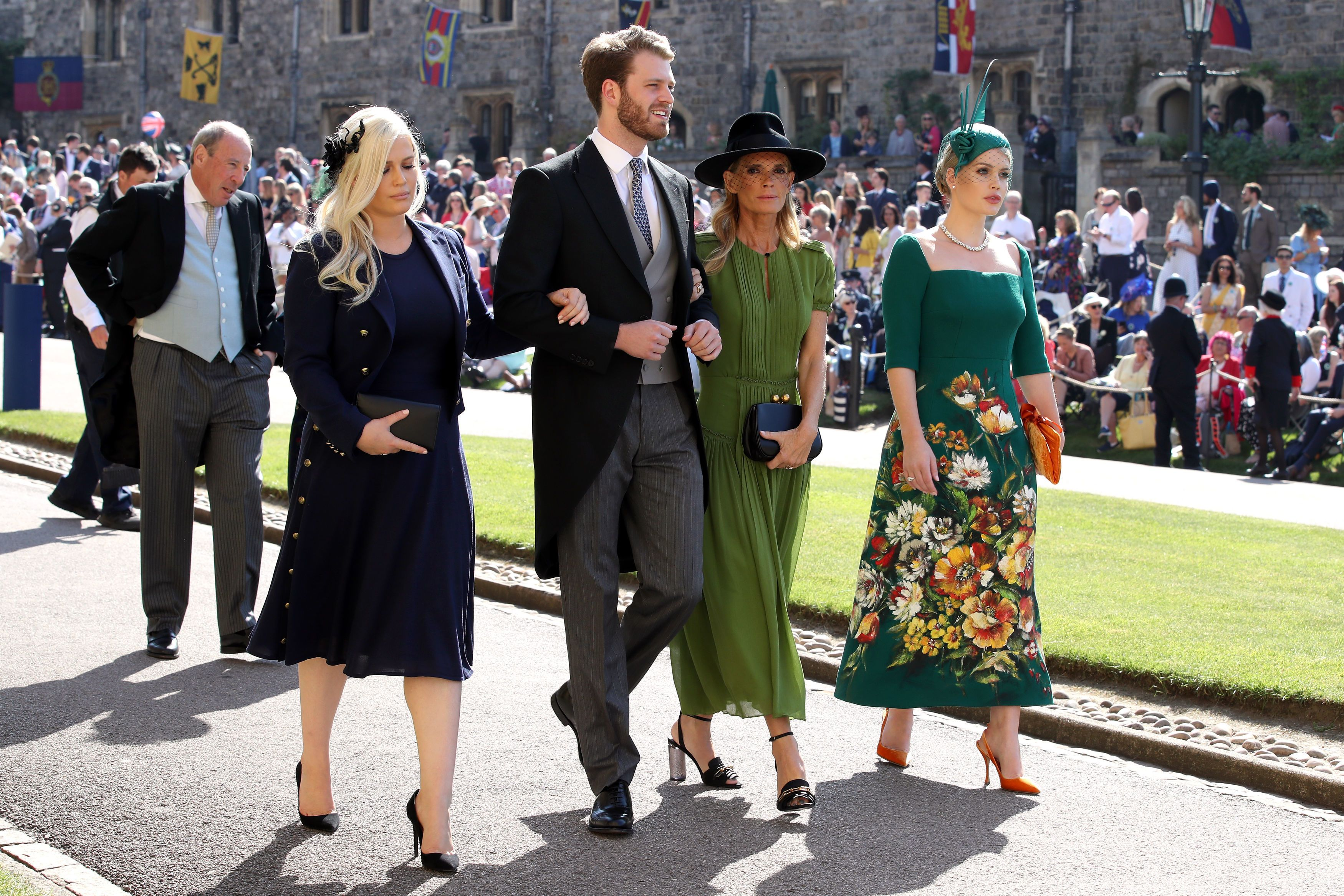 Eliza and Louis Spencer, Victoria Aitken, and Kitty Spencer at Prince Harry and Meghan Markle's wedding ceremony at Windsor Castle on May 19, 2018, in England | Photo: Chris Radburn - WPA Pool/Getty Images