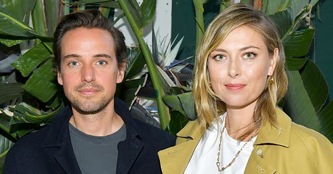 Maria Sharapova (L) and Alexander Gilkes at an intimate dinner in celebration of BoF West 2019 at San Vicente Bungalows | Photo: Getty Images