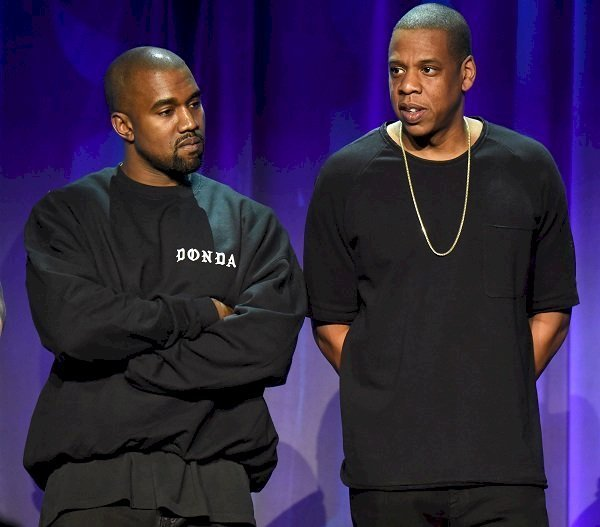 Jay-Z and Kanye West at the Tidal launch event in New York on March 20, 2015 | Source: Getty Images