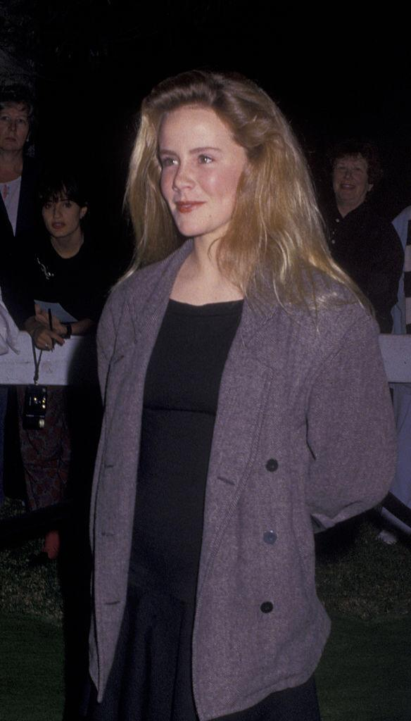 Amanda Peterson attends U2 Concert Party on November 21, 1987 at Jane Fonda's home in Malibu, California   Photo: Getty Images