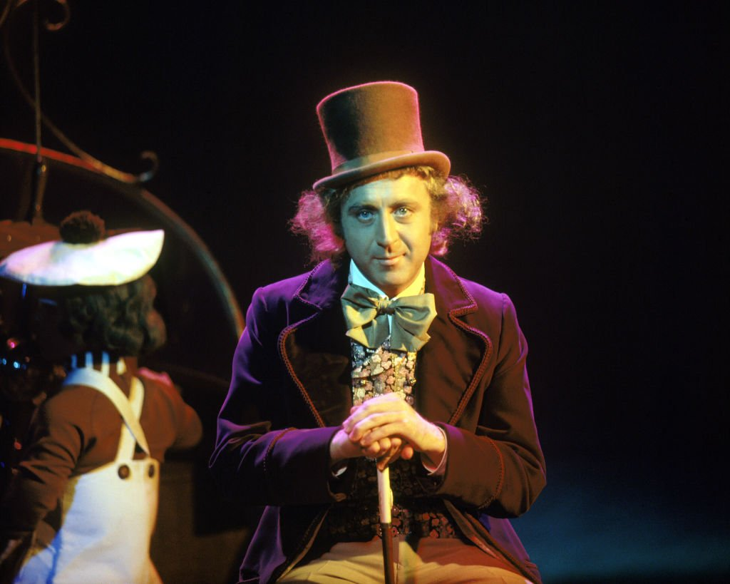"Gene Wilder as Willy Wonka on the set of the film ""Willy Wonka & the Chocolate Factory,"" based on the novel by Roald Dahl, 1971 