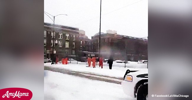 Internet abuzz over alarming pics of inmates shovelling snow in Chicago ahead of cold snap