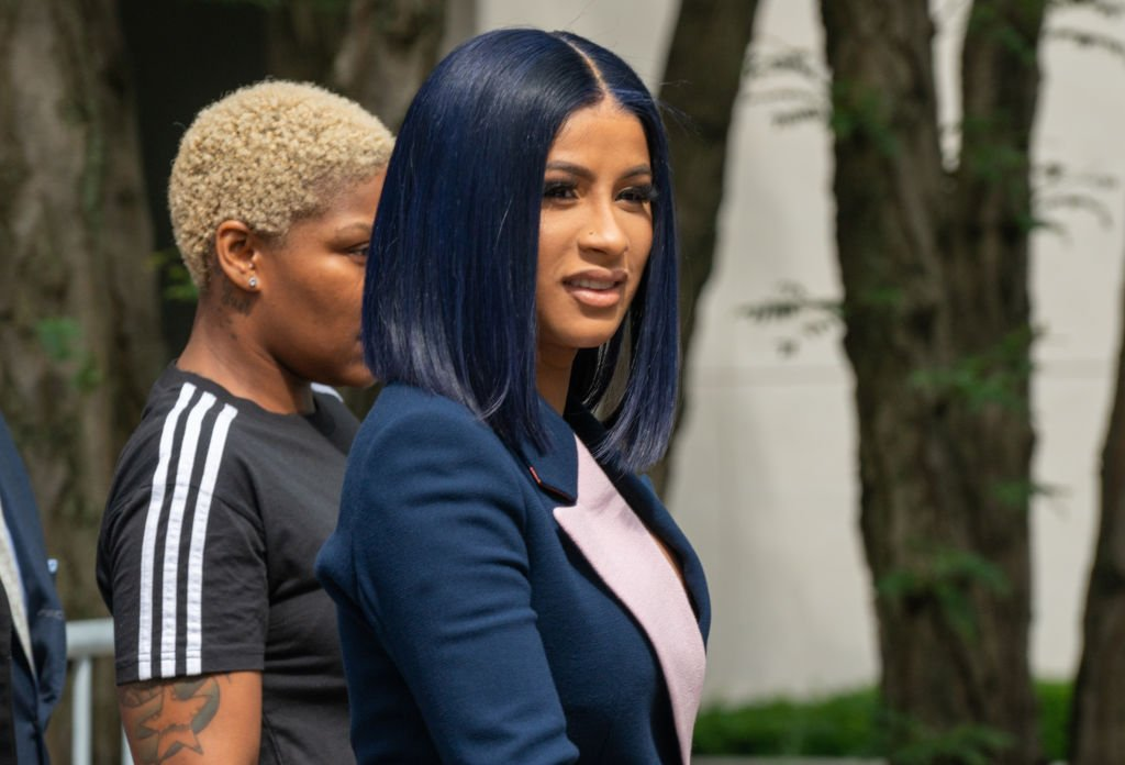 Cardi B departs from court after being arraigned on misdemeanor assault charges at the Queens Criminal Court on June 25, 2019 in New York City. | Photo: Getty Images