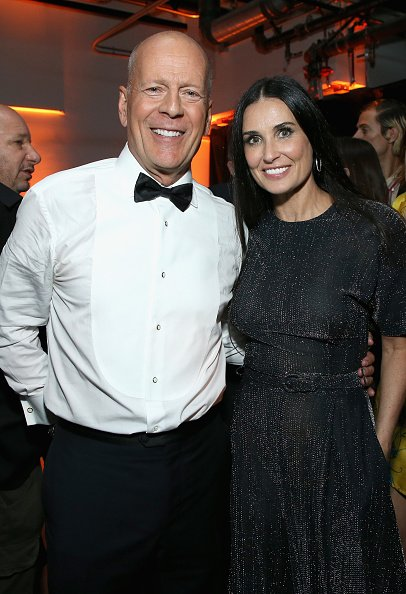 Bruce Willis and Demi Moore at NeueHouse on July 14, 2018 in Los Angeles, California. | Photo: Getty Images