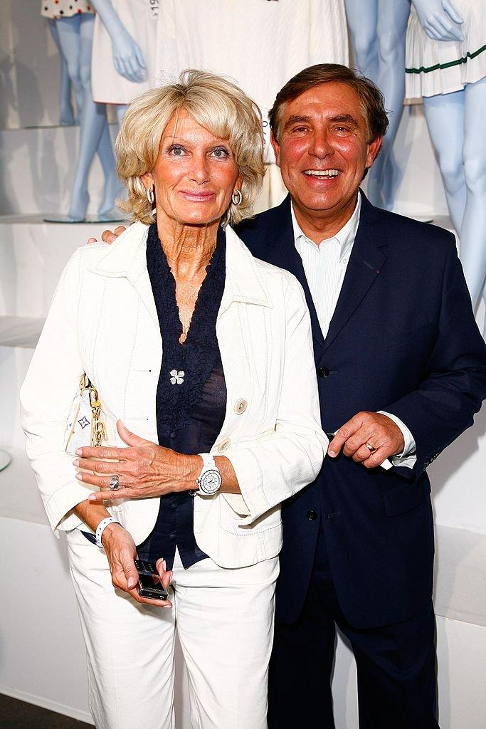 Jean-Pierre Foucault et sa compagne Evelyne Jarre. l Source : Getty Images
