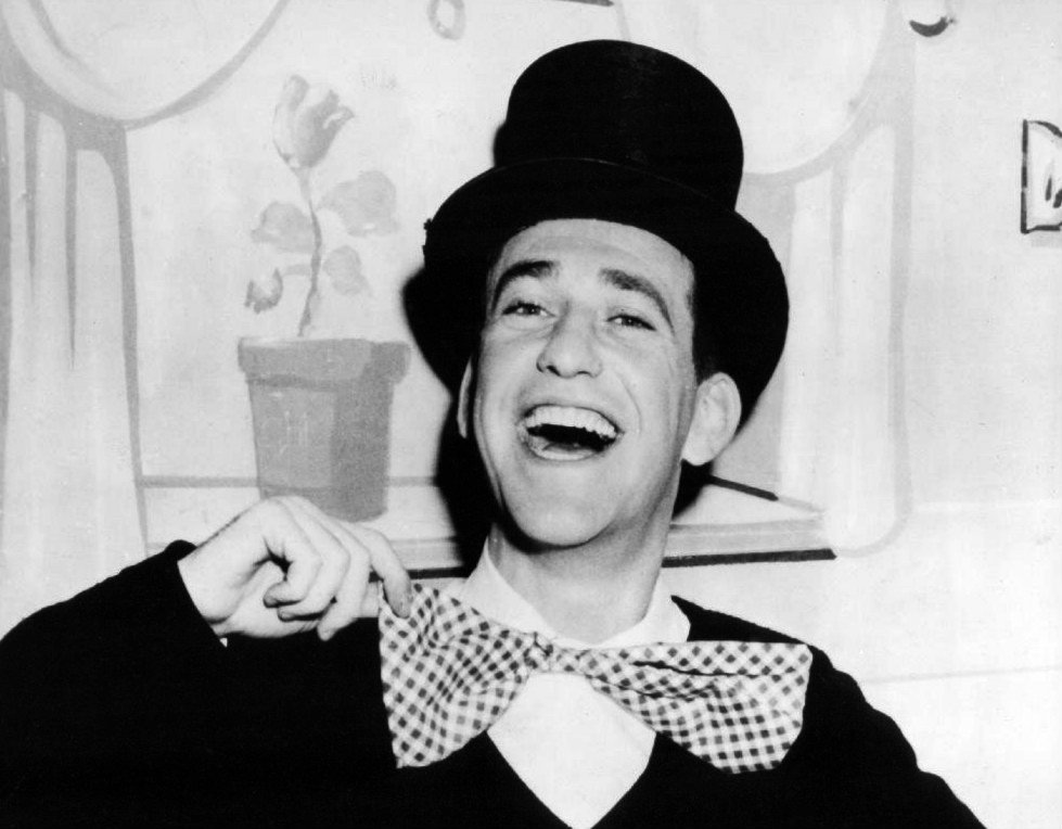"""Photo of comedian Soupy Sales from his """"Lunch With Soupy Sales"""" television program, circa 1960s. 
