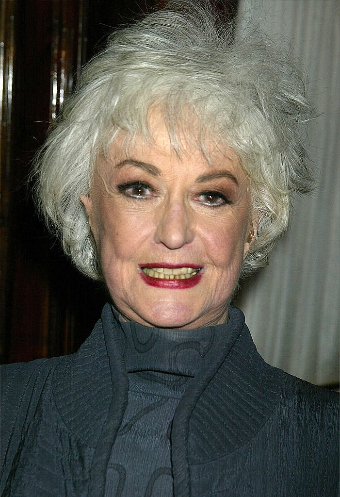 """Bea Arthur attends the after party for the opening of the play """"Just Between Friends,"""" January 29, 2002 at Sardis in New York City   Photo: Getty Images"""