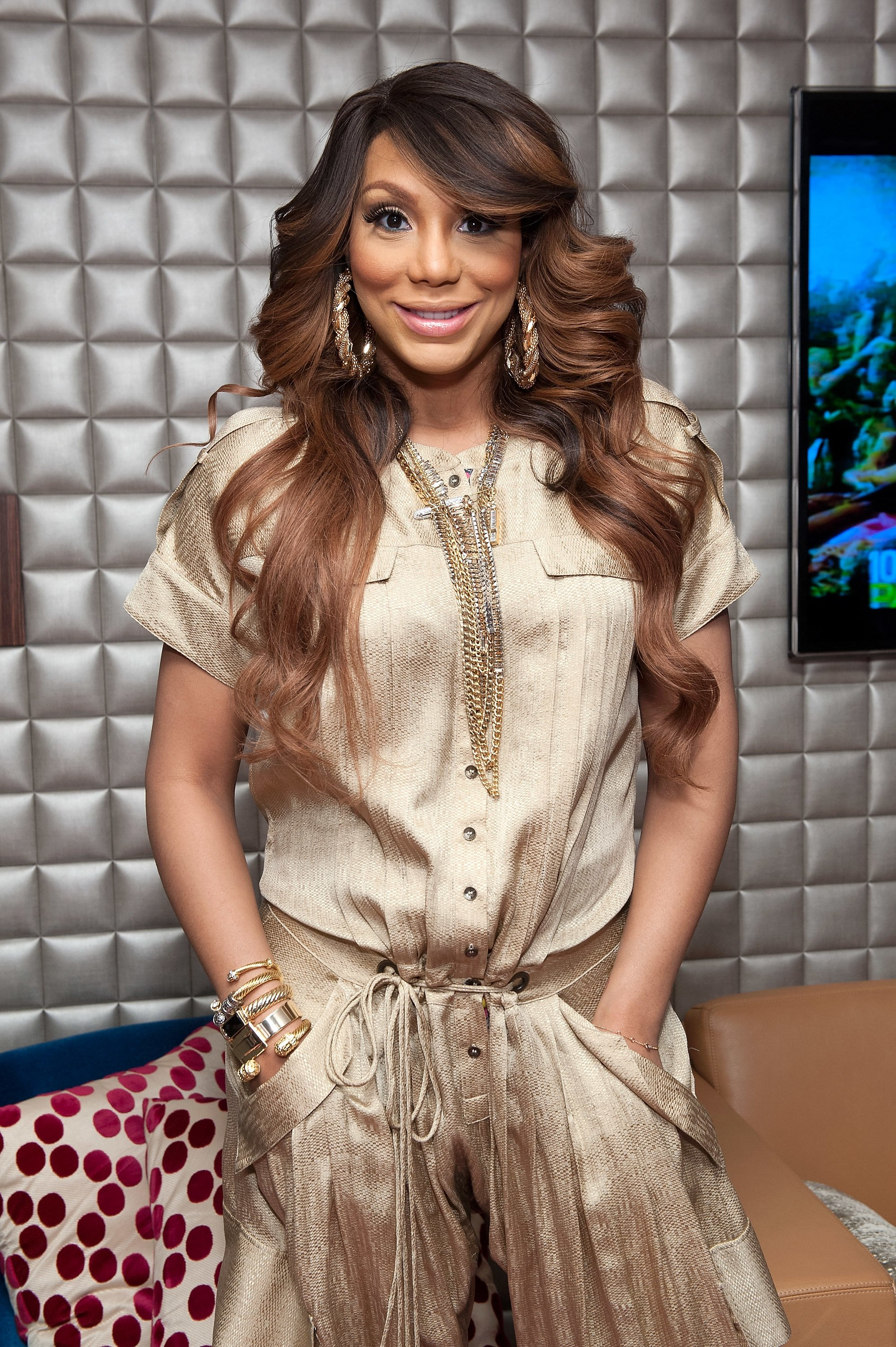 Tamar Braxton visits BET's '106 & Park' at BET Studios on February 13, 2013 | Photo: Getty Images