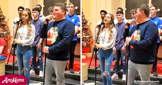 Two gifted teens sing up a storm with a duet that entrances the internet