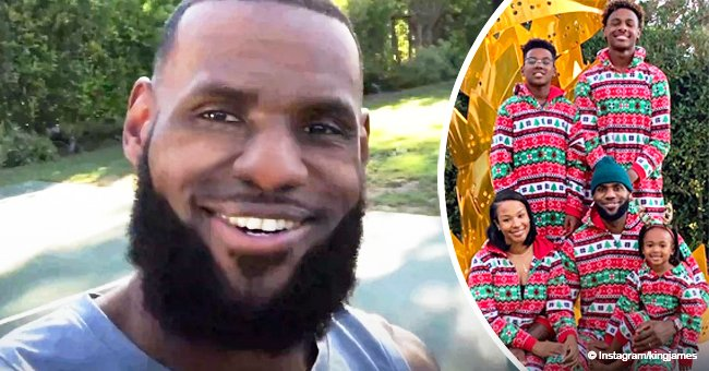 LeBron James gets into the Christmas spirit with photo of wife and their 3 kids in matching pajamas