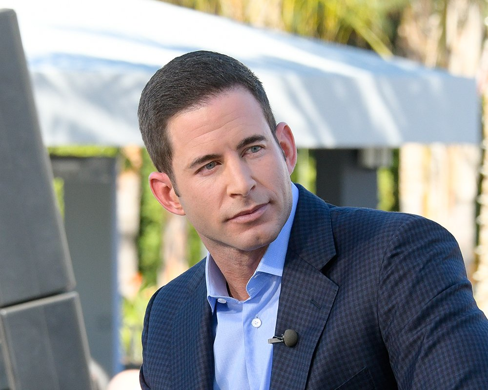 """Tarek El Moussa visiting """"Extra"""" at Universal Studios Hollywood in Universal City, California in February 2017. I Image: Getty Images."""